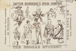 Advert for Captain Bainbridge's Opera Company